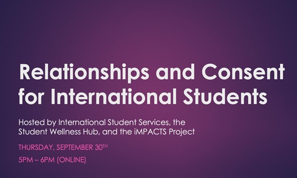 Relationships and Consent for International Students