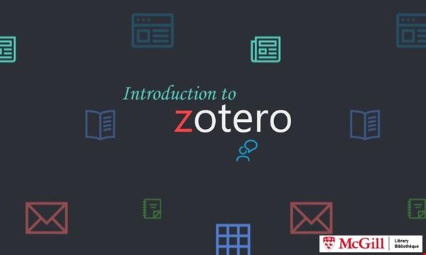 Intro to Zotero