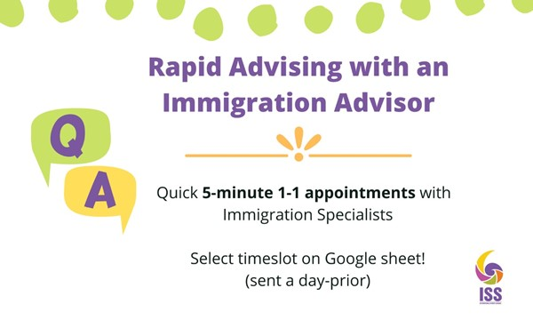 Rapid Advising with an Immigration Advisor