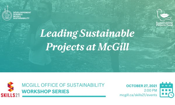 Leading Sustainable Projects at McGill